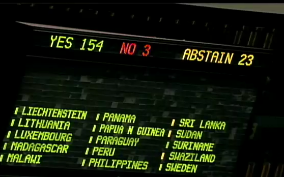 Arms Trade Treaty vote results