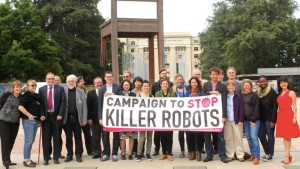 Campaigners gather in Geneva for the first government discussions on 'lethal autonomous weapons systems'.