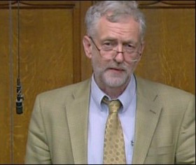 Jeremy Corbyn MP, who raised the Austrian pledge at the debate (BBC Parliament channel)