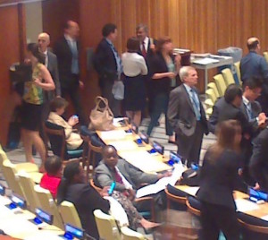 Delegates at a session of Main Committee I of the Nuclear Non-Proliferation Treaty Review Conference, May 2015 (Article 36)