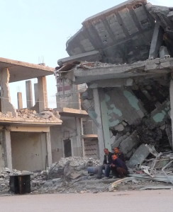 Devastation in the Syrian city of Kobane (© Handicap International)