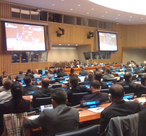 Conference room at the UN General Assembly First Committee, 2015