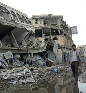 The city of Sa'ada has been heavily hit by airstrikes during the conflict in Yemen in 2015 (© Philippe Krops/OCHA)