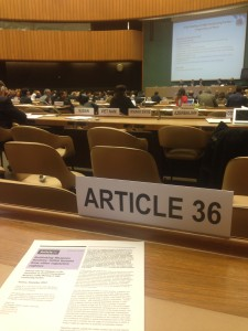 The annual Meeting of States Parties to the Convention on Conventional Weapons at the UN in Geneva (Article 36)