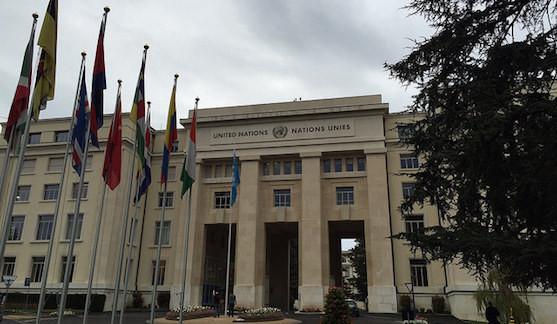 A picture of the UN Palais de Nations in Geneva © Campaign to Stop Killer Robots