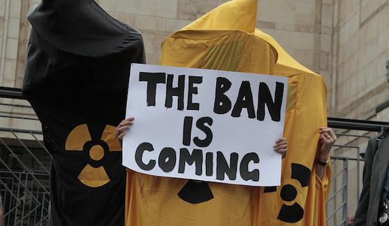 ICAN protest in Geneva