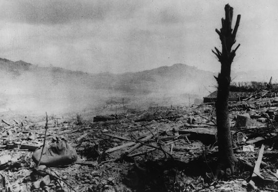 World War II. Nagasaki. A few moments after the August 9th 1945 bombardement. © ICRC Archives (ARR)