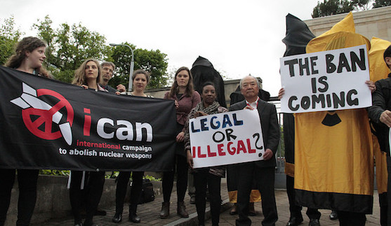 ICAN campaigners at the UN in Geneva © ICAN https://flic.kr/p/H4SRXW