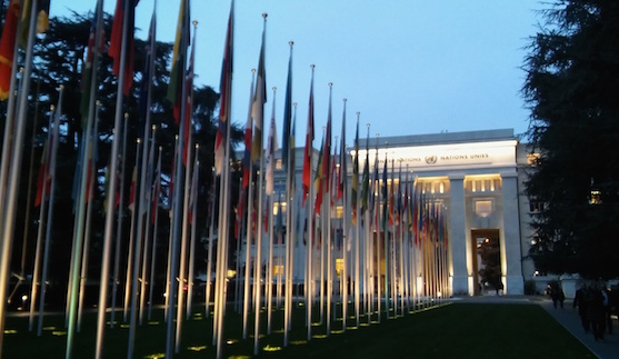 A picture of the UN Palais des Nations in Geneva, where states are meeting this week to discuss autonomous weapons
