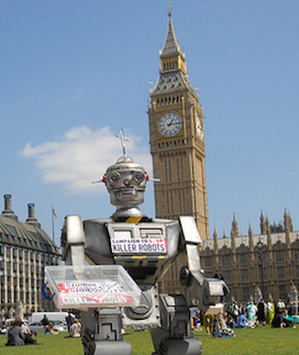 Campaign to Stop Killer Robots launch in Parliament Square, 2013 (© Campaign to Stop Killer Robots)