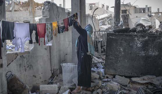 Views of Beit Hanoun, one of the neighborhoods most affected by the bombings in Northern Gaza, 2014 (Photo: © Yann Libessart/MSF)