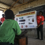 Mine risk education held at a school in Lobonok Payam, South Sudan, following the clearance of landmines from the area (UNN Photo; Isaac Billy https://flic.kr/p/24qgb6p)