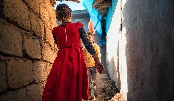 Children in Bardarash refugee camp, Northern Iraq, November 2019 © Emily Garthwaite/Article 36